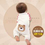 Baby clothes female baby thin cotton spring 1 spring summer clothing, 0 men and 3 months