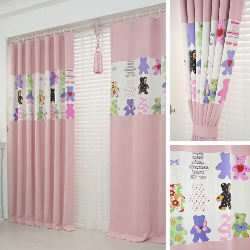【越帛】新款 *熊之家*  韩式风格 卧室/儿童卧室遮光窗帘 飘窗