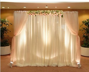 New background of wedding veils, wedding arrangement photos bei wholesale wedding reception table background props