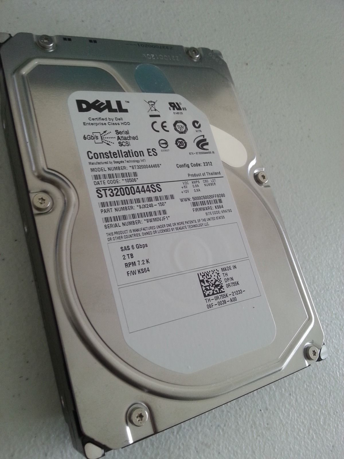 Original DELL ST32000444SS server hard disk 2T 3.5 inch 7.2K SAS R755K