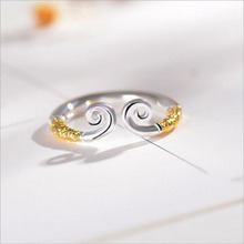 S925 silver zhizunbao inhibition ring ring opening student couples and men's and women's ring of silver