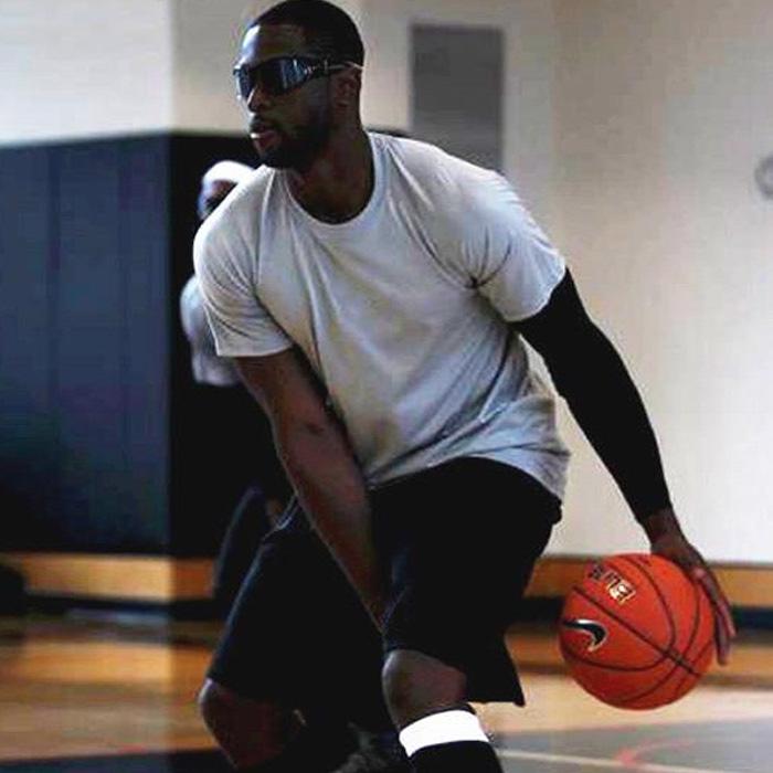 排汗速干t恤男夏韦德 篮球运动训练tee 跑步健身功能面料 短袖 男