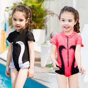 The girl child girl cute baby princess Swimsuit Swimwear Korean Swan swimsuit for children