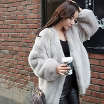 Daily special imitation water mink otter rabbit fur coat in the winter long section of fur plush sweater