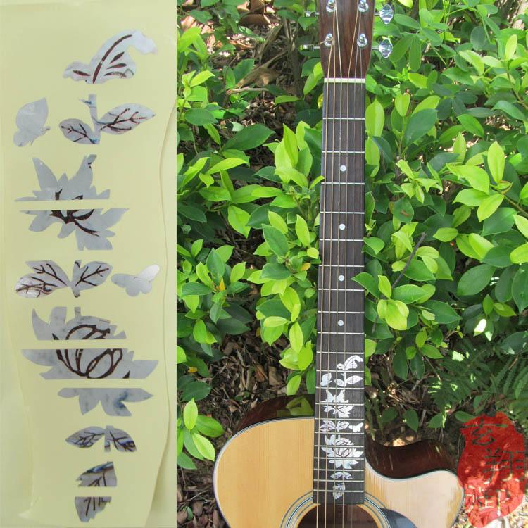 The neck of the guitar neck guitar guitar accessories stickers button knob guitar plate flaw flowers