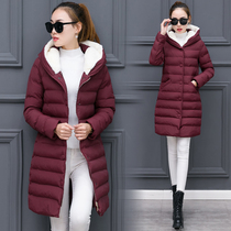 2016 winter hooded coat women long slim slimming plus size Quilted Jacket in Korean version of the thick down comforters cotton coat tide