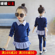 Autumn girl set 2017 new kids children's leisure two sets of spring and autumn girl fashion clothes