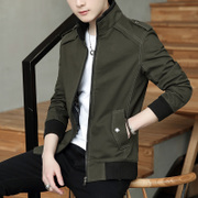 Men's coats in the autumn of 2017 new Korean male casual jacket thin clothes handsome men's spring and autumn winter coat