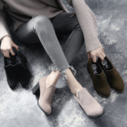 Female shoes in autumn and winter 2017 New England autumn tide all-match Korean fashion high-heeled shoes with coarse shoes