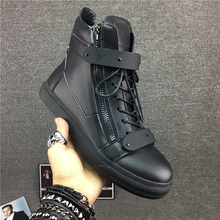 Europe shoes GZ shoes for men's shoes CL high metal Black Warrior shoes leather shoes drill shoe lovers Korean tide