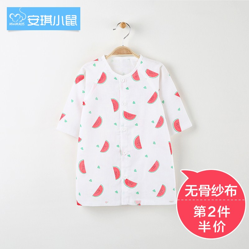 Air conditioning service Angela baby pajamas bathrobe Nightgown in gauze Summer Infant cotton gauze dress