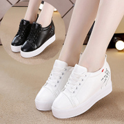 Magic water shoes in white women fall 2017 new Korean all-match leisure shoes female student Muffin