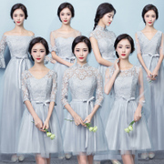 2017 new Korean bridesmaid dresses in the long winter bridesmaids sisters skirt short dresses bridesmaid dress female
