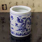 Put the brush pen blue and white porcelain of Jingdezhen ceramic brush pen stationery stationery pen small ornaments