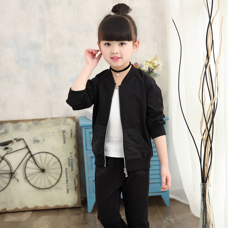 Spring girl baby girl suit sportswear 2-3 four 4 five 5 six 6 eight 8 nine 90 10 year old girl.