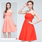 A1 spring and summer women's clearance cotton wrapped chest dress dress bridesmaid dress brand BO standard 0489