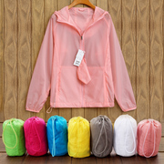 2017 new summer sun protection clothing female couples Shirt Short Sleeved ultra-thin breathable clothing beach all-match parent-child coat