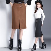 New old skirts for fall/winter woman middle-aged step mother dress skirt skirts plus size skirt in the wild long skirt