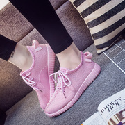 The Korean version of a pedal loafer shoes breathable soft bottom shoes coconut all-match sports leisure female students running shoes