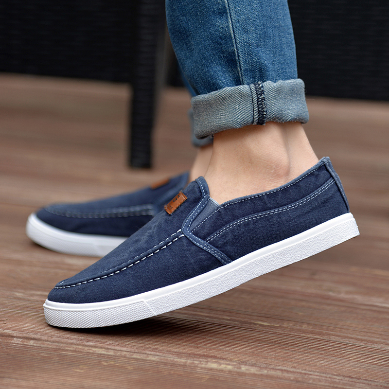 Summer shoes, old Beijing cloth shoes, men's lazy shoes, soft youth shoes, casual shoes, youth trend, canvas shoes, foot sets