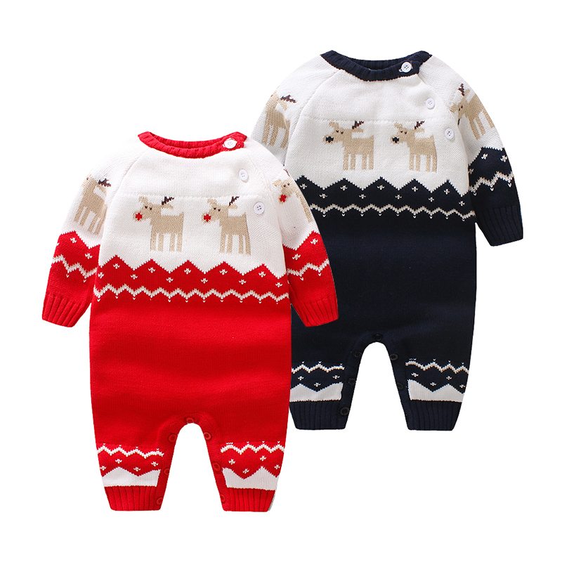 Baby sweater, climbing clothes, autumn and winter, conjoined garment, knitting, men and women, baby, ha, clothing, xhy-0138