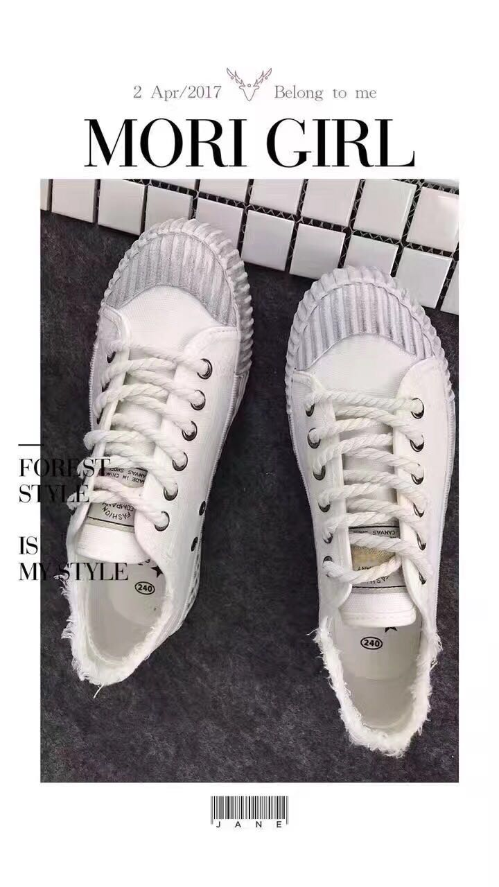 Shipping canvas shoes spring 2017 female new all-match Korean white shoe shoes street shoes shoes a student