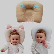 Baby pillow anti-partial correction of months in 1-3 cotton baby pillow 0-6 seasons General