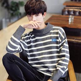 春季半高领男士 毛衣韩版打底针织衫潮流修身毛线衣个性加厚保暖Q