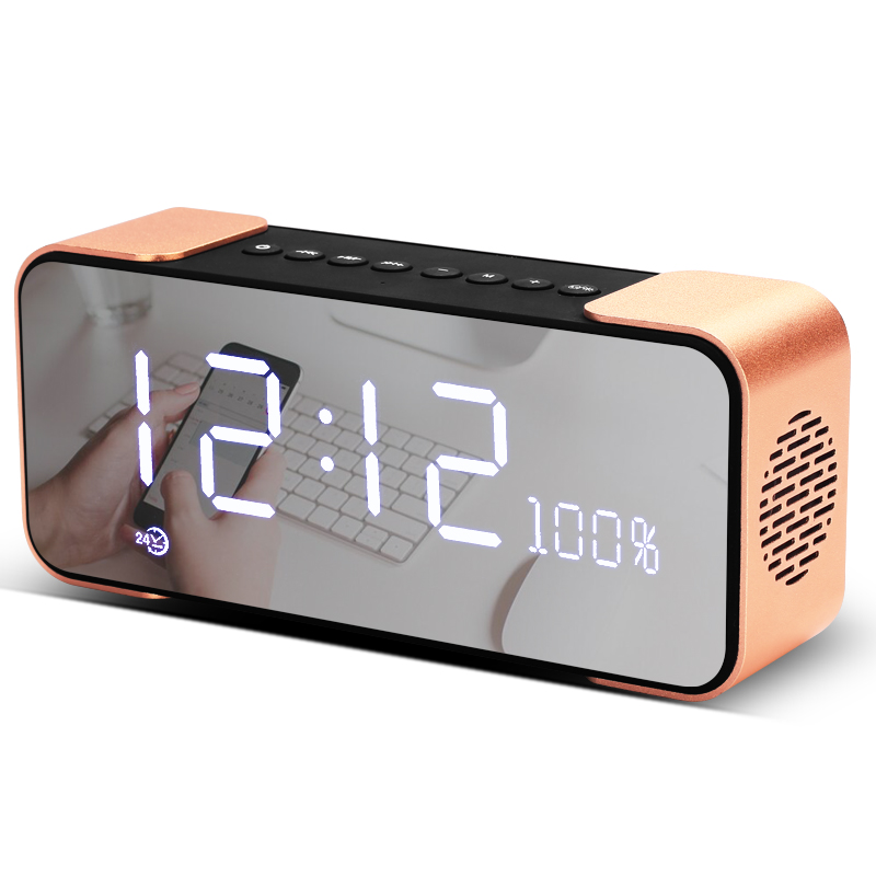 Wireless Bluetooth speakers, hifi subwoofer, smart alarm clock, multi-function mini card, portable small audio