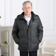 Dad put in-season 40-50 old man winter coat winter wool coat thicken down jacket