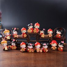 Marriage room layout wedding decoration supplies Home Furnishing creative cartoon doll ornaments festive supplies bag mail