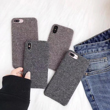 For iPhone X Cases Fashion Retro Fuzzy Cloth Phone Cases For