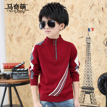 2016 new children in the childrens clothing for fall winter boys zipper sweaters children sweater collar knit cashmere sweater