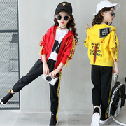 Girls in autumn 2017 new tide female children wear western style suit sportswear fashion girl in spring and autumn of two sets