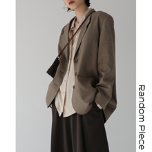 [RandomPiece2018FW] Vintage Mannish High-end yarn-dyed Imported worsted wool suit