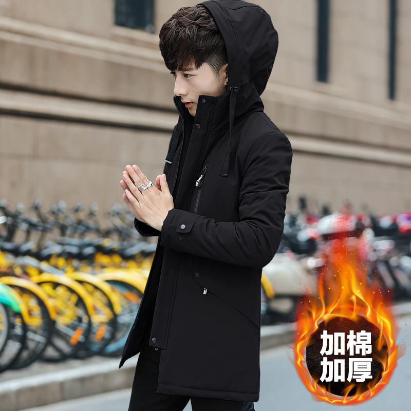 秋冬季男士外套2017新款中长款风衣韩版潮流修身帅气加厚夹克上衣