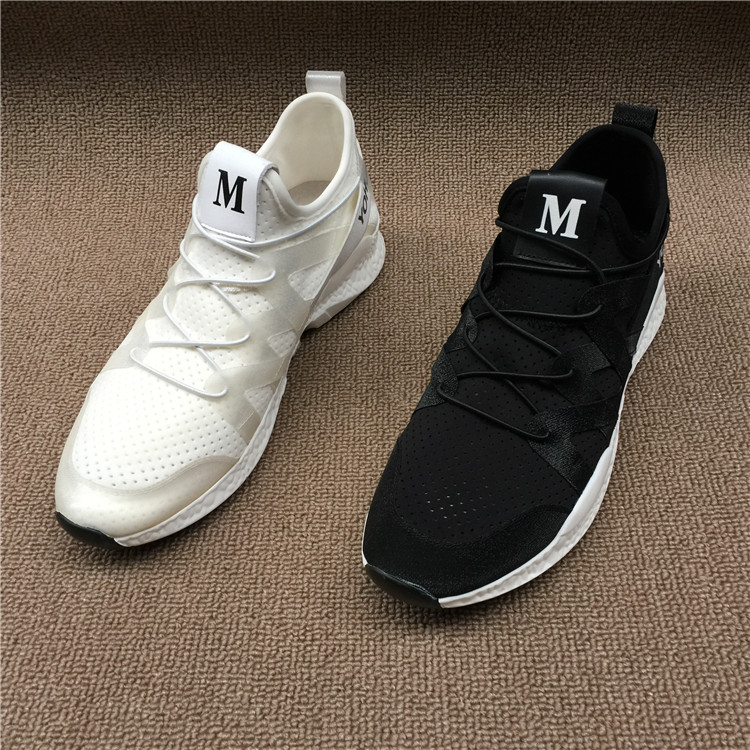 The 2017 summer new trade off code clearance Korean Leather Men's shoes thick soles increased net cloth sports and leisure shoes