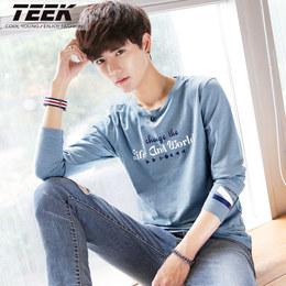 2018春季新款男士长袖t恤 学生韩版秋衣服男装青少年早春体恤上衣