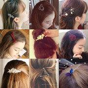On the Korean bangs Mori Korea headdress hairpin hairpin clip cherry hair edge clip retro jewelry female leaves