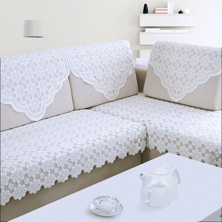 蕾丝沙发巾沙发靠背巾布艺扶手巾欧式薄款白色全盖沙发搭巾后背巾