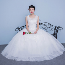 New style of shoulder lace, Korean Edition, big size, thin wedding dress, simple flower, word, shoulder, wedding dress, uniform