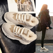 Women 's winter plus velvet cotton 2017 new Korean version ulzzang Harajuku wild thick casual shoes ins female