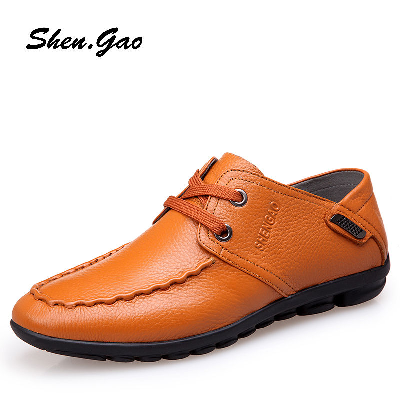 2015 business-casual shoes men's casual shoes, men's leather strap in autumn and winter in England men's breathable shoes