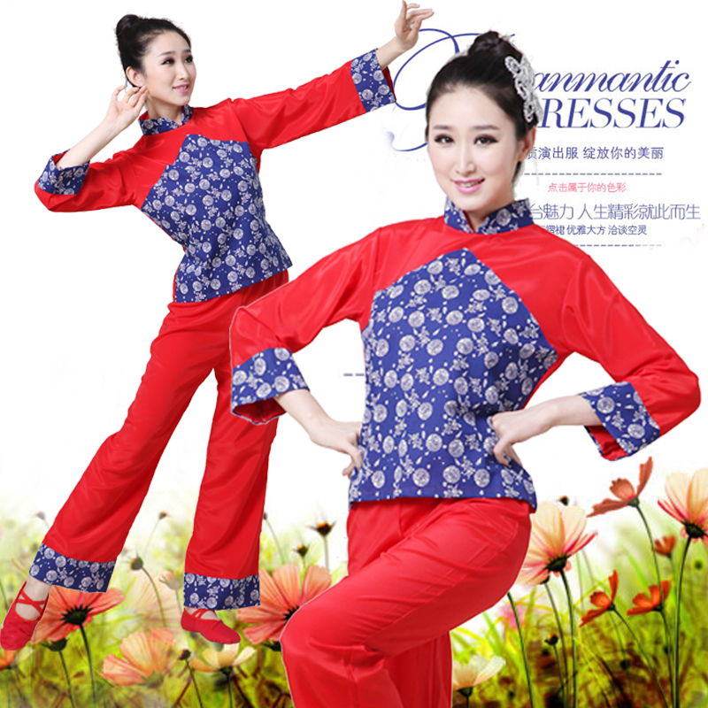 Northeast classic costumes 2015 new Yangge dance clothing dance a fan stage suits drum clothing women winter
