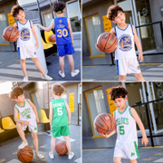 The boy summer suit 2017 new children in big boy children sports vest shorts two piece basketball clothing tide