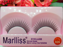 New listing red false eyelashes long paragraph 926# natural Marisa daily over 10 of nude make-up bag mail
