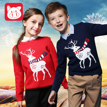 Pig banner childrens clothing boys sweater Turtleneck Sweater girls fall clothing children in da Tong Yuan brought pure cotton Jersey
