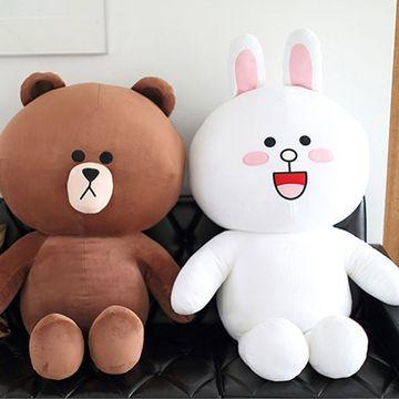 布朗熊公仔大号毛绒玩具抱抱熊可妮兔抱枕韩国情侣女生超可爱玩偶