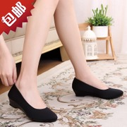 4 centimeters of new style, thick with black work shoes, etiquette Hotel, old Beijing cloth shoes, women's singles, spring and autumn, summer anti-skid