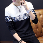 The summer long sleeved T-shirt Mens sweater Slim New Mens youth spring clothes wet coat shirt